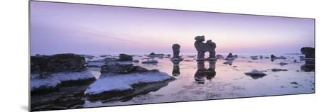 Rocks on the Beach, Faro, Gotland, Sweden--Mounted Photographic Print