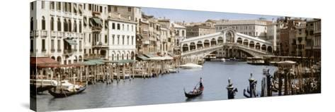 Bridge Over a Canal, Rialto Bridge, Venice, Veneto, Italy--Stretched Canvas Print