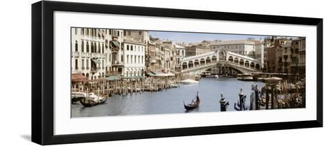 Bridge Over a Canal, Rialto Bridge, Venice, Veneto, Italy--Framed Art Print