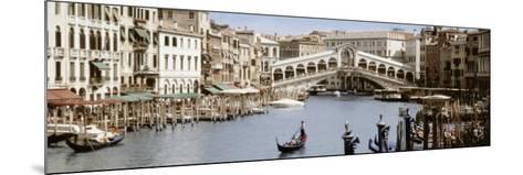 Bridge Over a Canal, Rialto Bridge, Venice, Veneto, Italy--Mounted Photographic Print