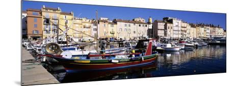 Boats Moored at a Dock, St. Tropez, Provence, France--Mounted Photographic Print