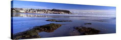 Town at the Waterfront, Scarborough, South Bay, North Yorkshire, England, United Kingdom--Stretched Canvas Print