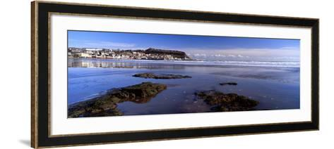 Town at the Waterfront, Scarborough, South Bay, North Yorkshire, England, United Kingdom--Framed Art Print