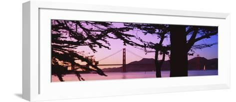 Suspension Bridge Over Water, Golden Gate Bridge, San Francisco, California, USA--Framed Art Print