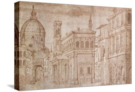 Architectural Capriccio-Baldassare Lanci-Stretched Canvas Print