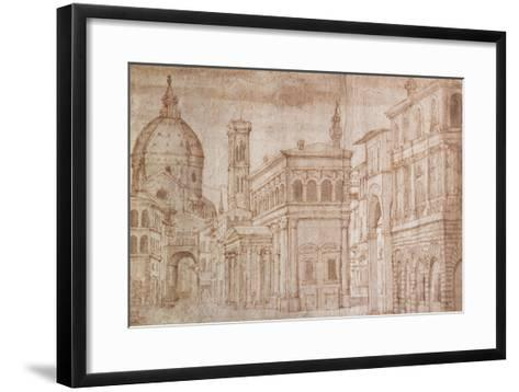 Architectural Capriccio-Baldassare Lanci-Framed Art Print