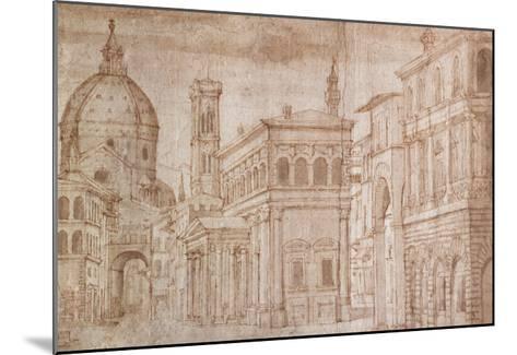 Architectural Capriccio-Baldassare Lanci-Mounted Giclee Print