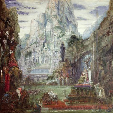 The Triumph of Alexander the Great-Gustave Moreau-Stretched Canvas Print