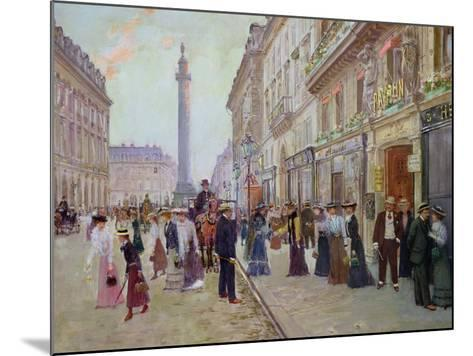 Workers Leaving the Maison Paquin, in the Rue de La Paix, circa 1900-Jean B?raud-Mounted Giclee Print