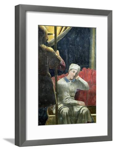 The Dream of Constantine, Completed 1464-Piero della Francesca-Framed Art Print