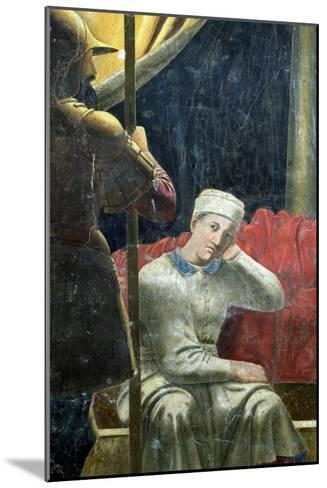 The Dream of Constantine, Completed 1464-Piero della Francesca-Mounted Giclee Print