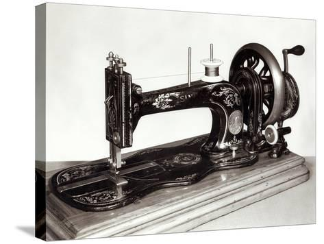 "Singer ""New Family"" Sewing Machine, 1865--Stretched Canvas Print"