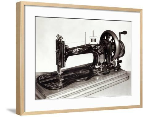 "Singer ""New Family"" Sewing Machine, 1865--Framed Art Print"
