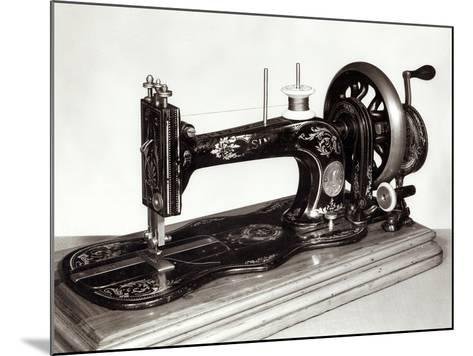 "Singer ""New Family"" Sewing Machine, 1865--Mounted Giclee Print"