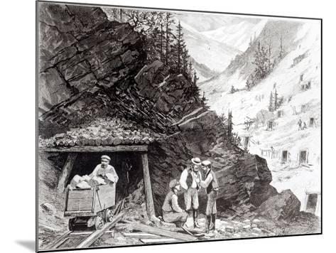 Gold and Silver Mining, Colorado - a Honey-Combed Mountain, from Drawing by Frenzeny and Tavernier--Mounted Giclee Print