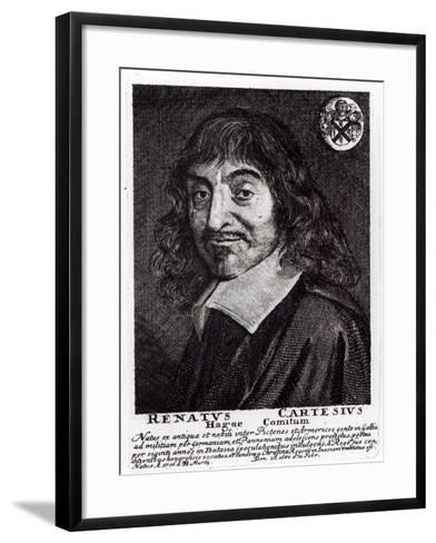 Portrait of Rene Descartes-Frans Hals-Framed Art Print