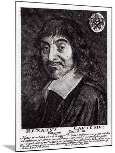 Portrait of Rene Descartes-Frans Hals-Mounted Giclee Print