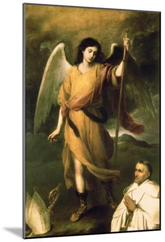 Archangel Raphael with Bishop Domonte-Bartolome Esteban Murillo-Mounted Giclee Print