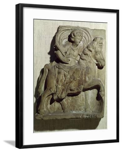 Relief of Epona, Gaulish Goddess, Protector of Horses, Riders and Travellers 50 BC-400 AD--Framed Art Print