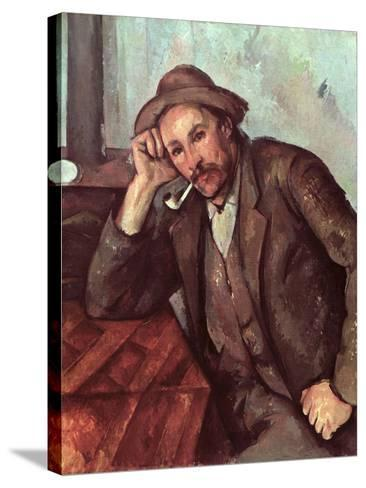 The Smoker, 1891-92-Paul C?zanne-Stretched Canvas Print