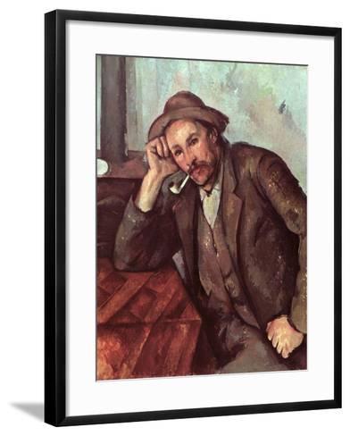 The Smoker, 1891-92-Paul C?zanne-Framed Art Print