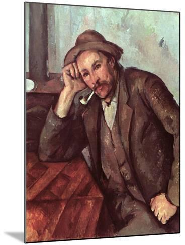 The Smoker, 1891-92-Paul C?zanne-Mounted Giclee Print