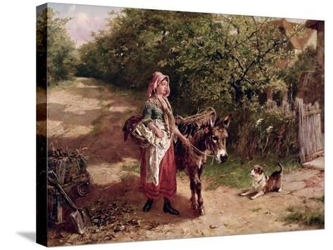 Home from Market-Edgar Bundy-Stretched Canvas Print