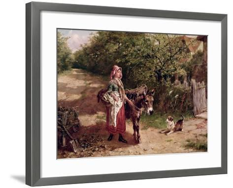 Home from Market-Edgar Bundy-Framed Art Print