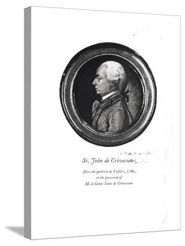 """Michel-Guillaume-Jean de Crevecoeur Frontispiece of His """"Sketches of 18th Century America""""- Valliere-Stretched Canvas Print"""