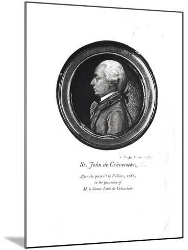 """Michel-Guillaume-Jean de Crevecoeur Frontispiece of His """"Sketches of 18th Century America""""- Valliere-Mounted Giclee Print"""