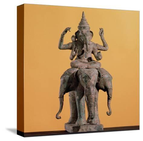 Statue of the Hindu God Ganesh--Stretched Canvas Print