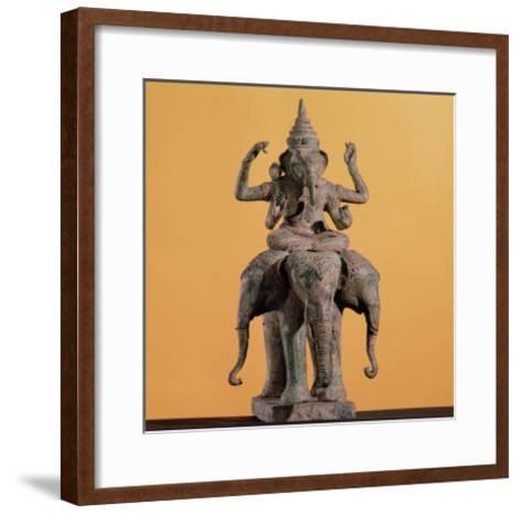 Statue of the Hindu God Ganesh--Framed Art Print