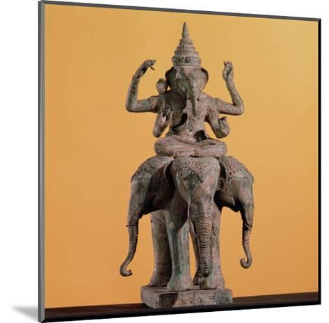 Statue of the Hindu God Ganesh--Mounted Giclee Print