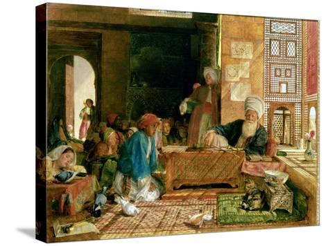 Interior of a School, Cairo-John Frederick Lewis-Stretched Canvas Print