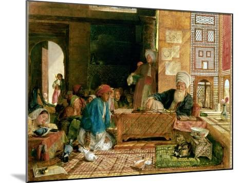 Interior of a School, Cairo-John Frederick Lewis-Mounted Giclee Print