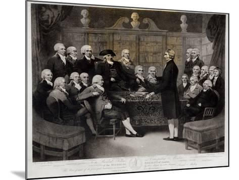 Portrait of President, Fellows, and Corresponding Members of the Medical Society of London 1801-Samuel Medley-Mounted Giclee Print