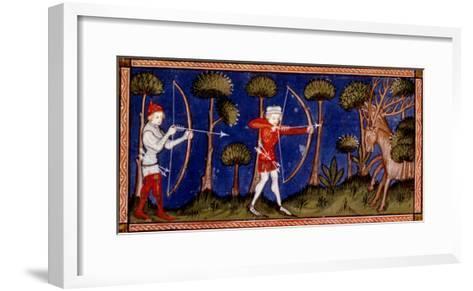 Hunting Scene, 14th Century--Framed Art Print