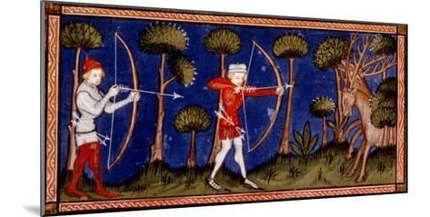 Hunting Scene, 14th Century--Mounted Giclee Print
