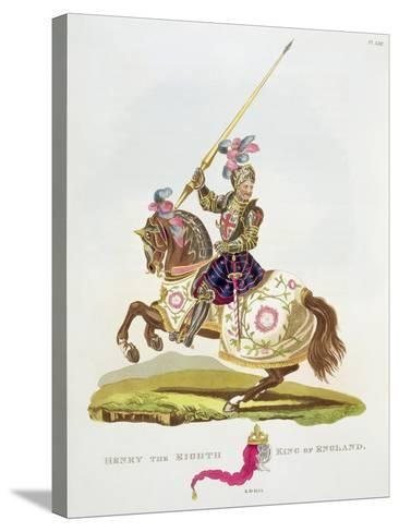 """Henry VIII, King of England 1525, from """"Ancient Armour"""" by Samuel Rush Meyrick, 1824--Stretched Canvas Print"""