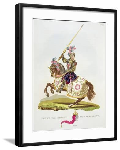 """Henry VIII, King of England 1525, from """"Ancient Armour"""" by Samuel Rush Meyrick, 1824--Framed Art Print"""