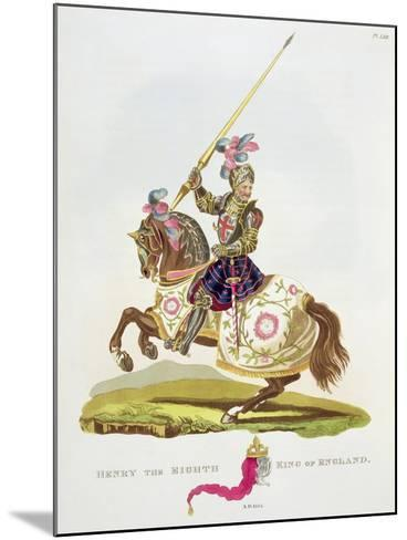 """Henry VIII, King of England 1525, from """"Ancient Armour"""" by Samuel Rush Meyrick, 1824--Mounted Giclee Print"""