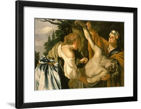 The Nursing of Saint Sebastian, 1622-Theodore van Baburen-Framed Art Print