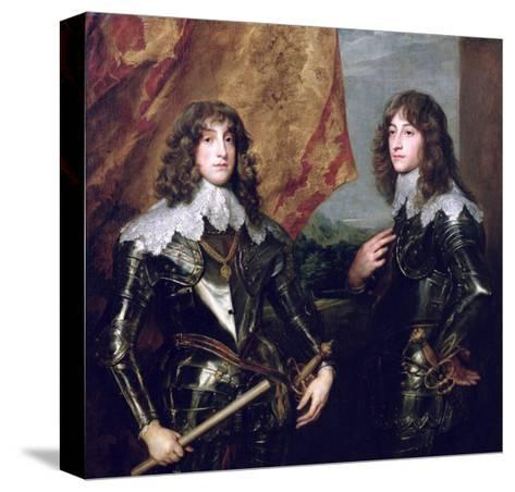 Prince Charles Louis Elector Palatine and His Brother, Prince Rupert of the Palatinate, 1637-Sir Anthony Van Dyck-Stretched Canvas Print