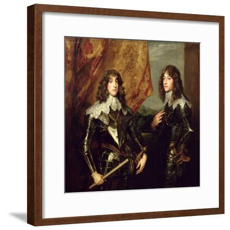 Prince Charles Louis Elector Palatine and His Brother, Prince Rupert of the Palatinate, 1637-Sir Anthony Van Dyck-Framed Art Print