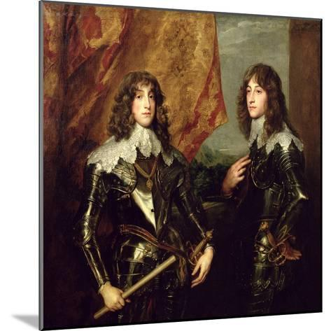 Prince Charles Louis Elector Palatine and His Brother, Prince Rupert of the Palatinate, 1637-Sir Anthony Van Dyck-Mounted Giclee Print
