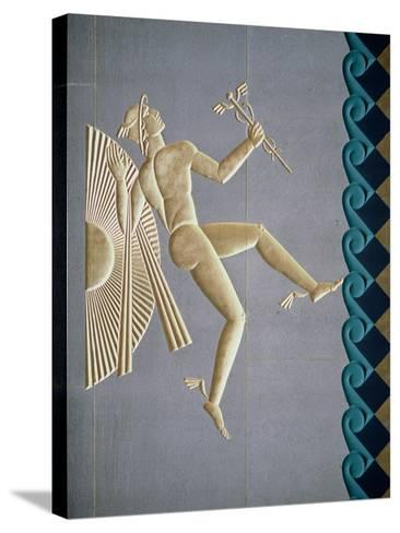 Bas-Relief Depicting Mercury from the Exterior of One of the 14 Buildings, Built 1931-40--Stretched Canvas Print