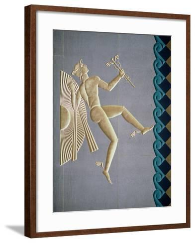 Bas-Relief Depicting Mercury from the Exterior of One of the 14 Buildings, Built 1931-40--Framed Art Print