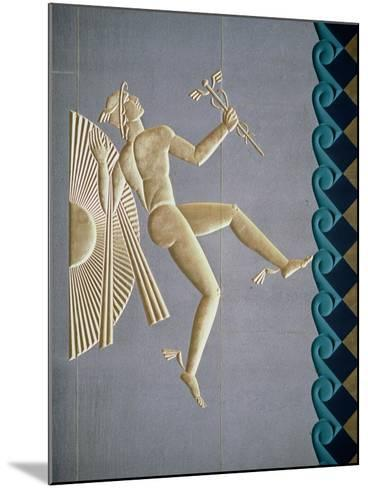 Bas-Relief Depicting Mercury from the Exterior of One of the 14 Buildings, Built 1931-40--Mounted Giclee Print