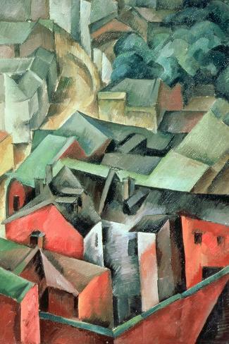 Landscape, 1917-Aleksandr Aleksandrovich Osmerkin-Stretched Canvas Print