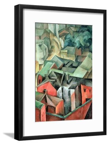 Landscape, 1917-Aleksandr Aleksandrovich Osmerkin-Framed Art Print